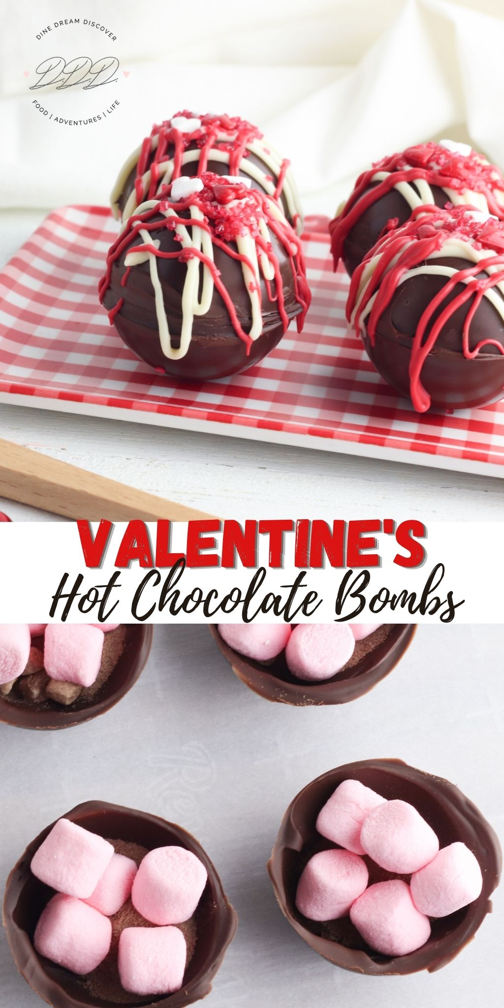 valentines day hot cocoa bombs