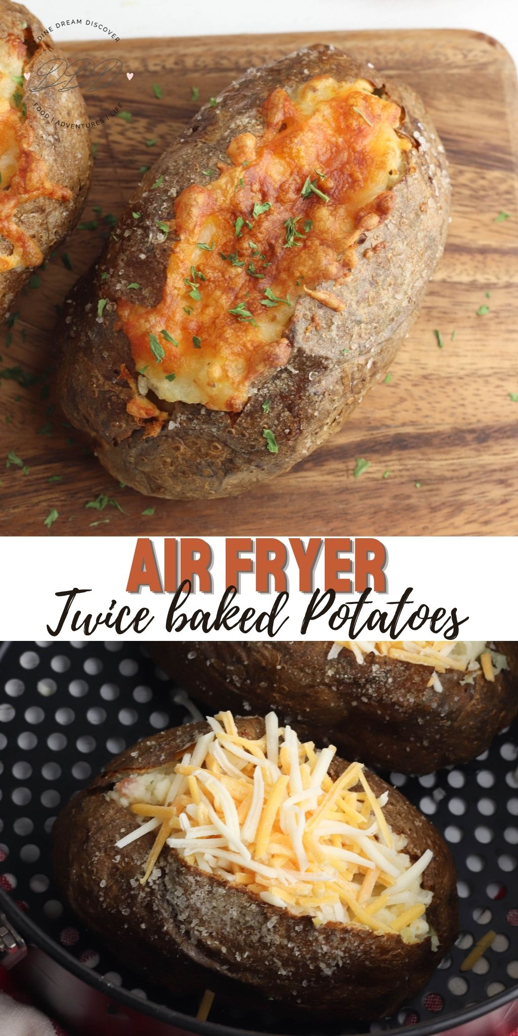 Air Fryer Twice Baked Potatoes Dine Dream Discover