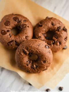 Baked Double Chocolate Chip Donuts