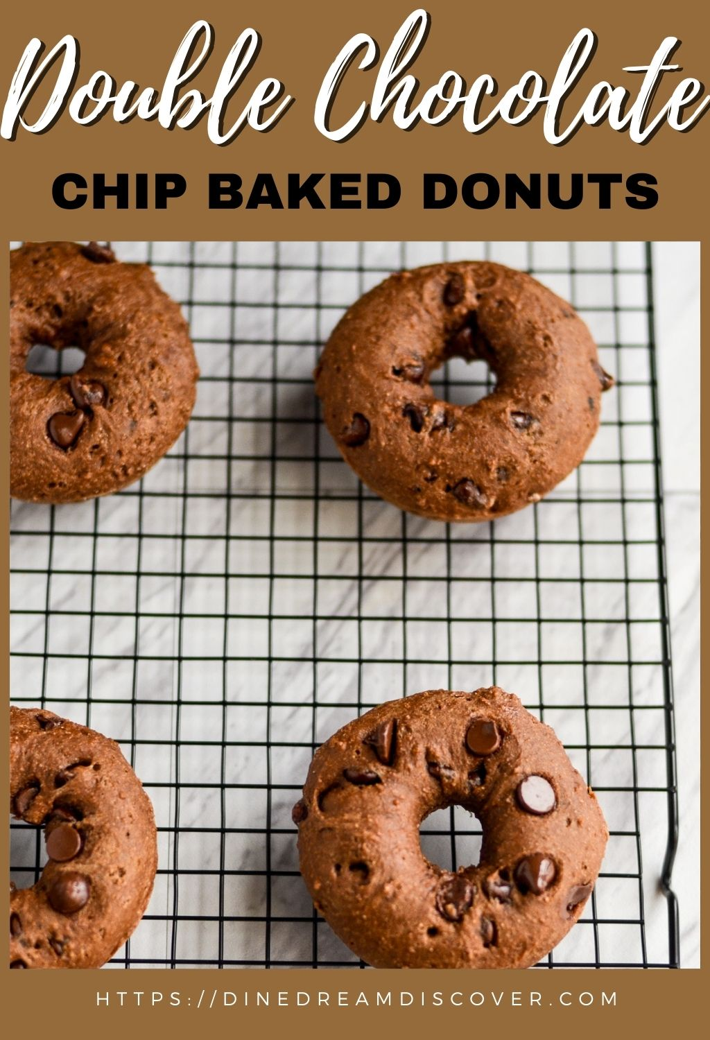 baked double chocolate chip donuts recipe