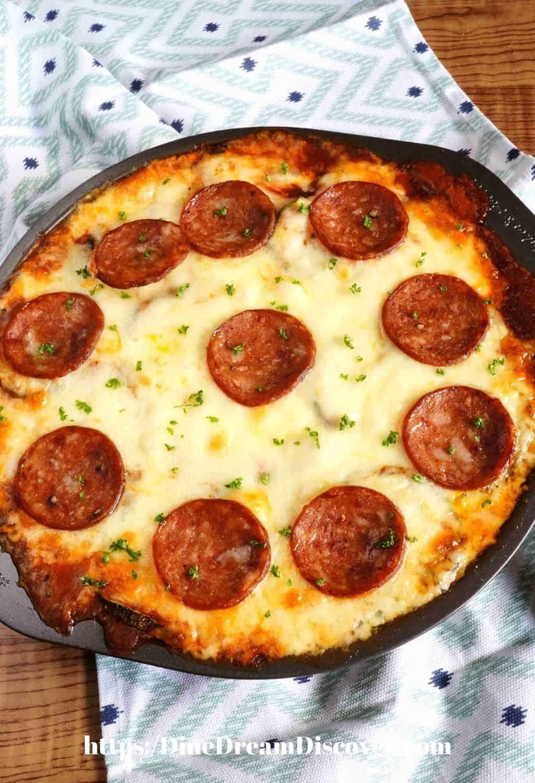 Keto Zucchini Pizza Pie Recipe