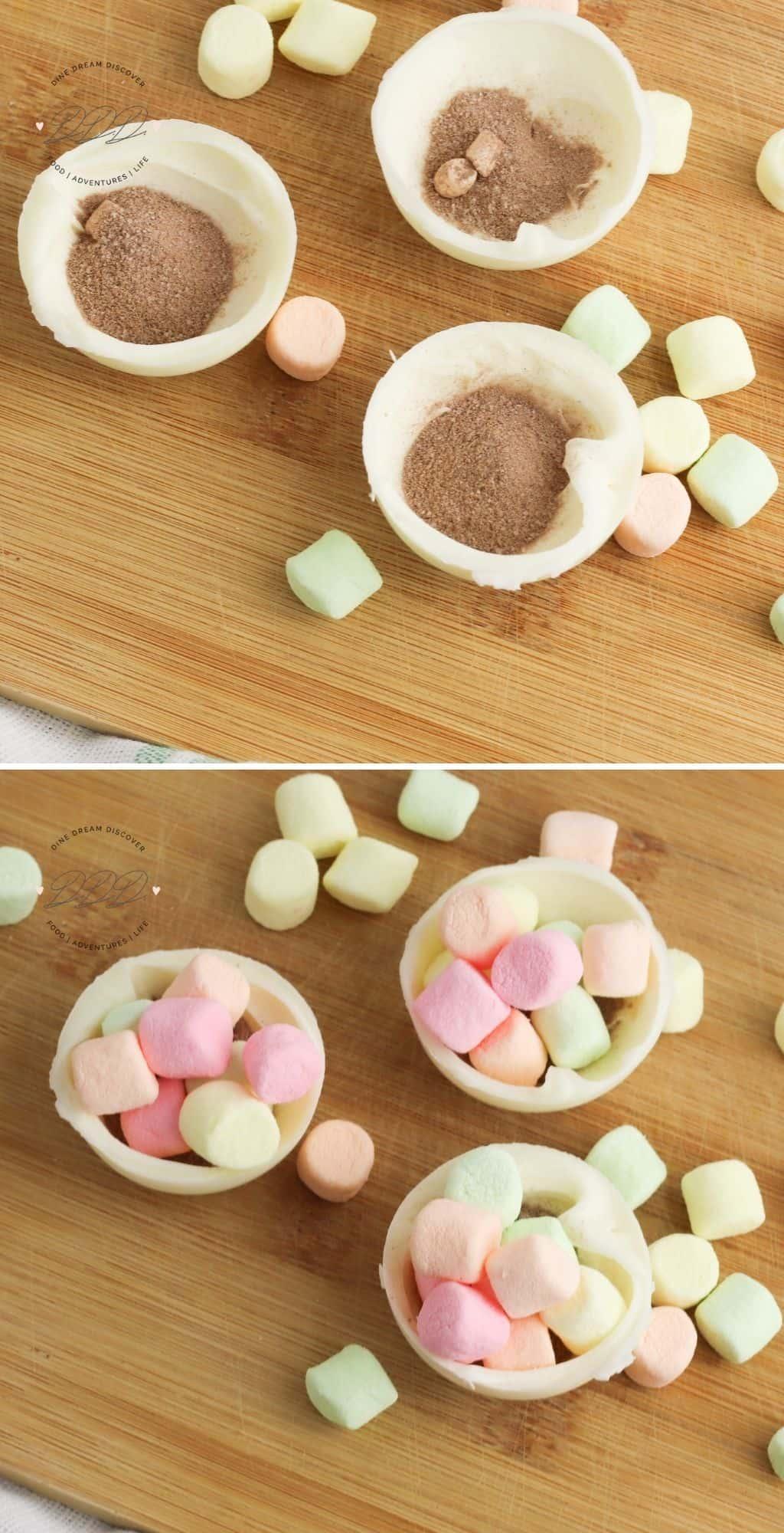 Rainbow Sprinkles White Hot Chocolate Bombs