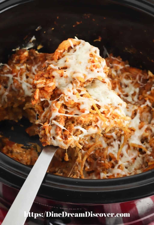 Slow Cooker Spaghetti Casserole Recipe