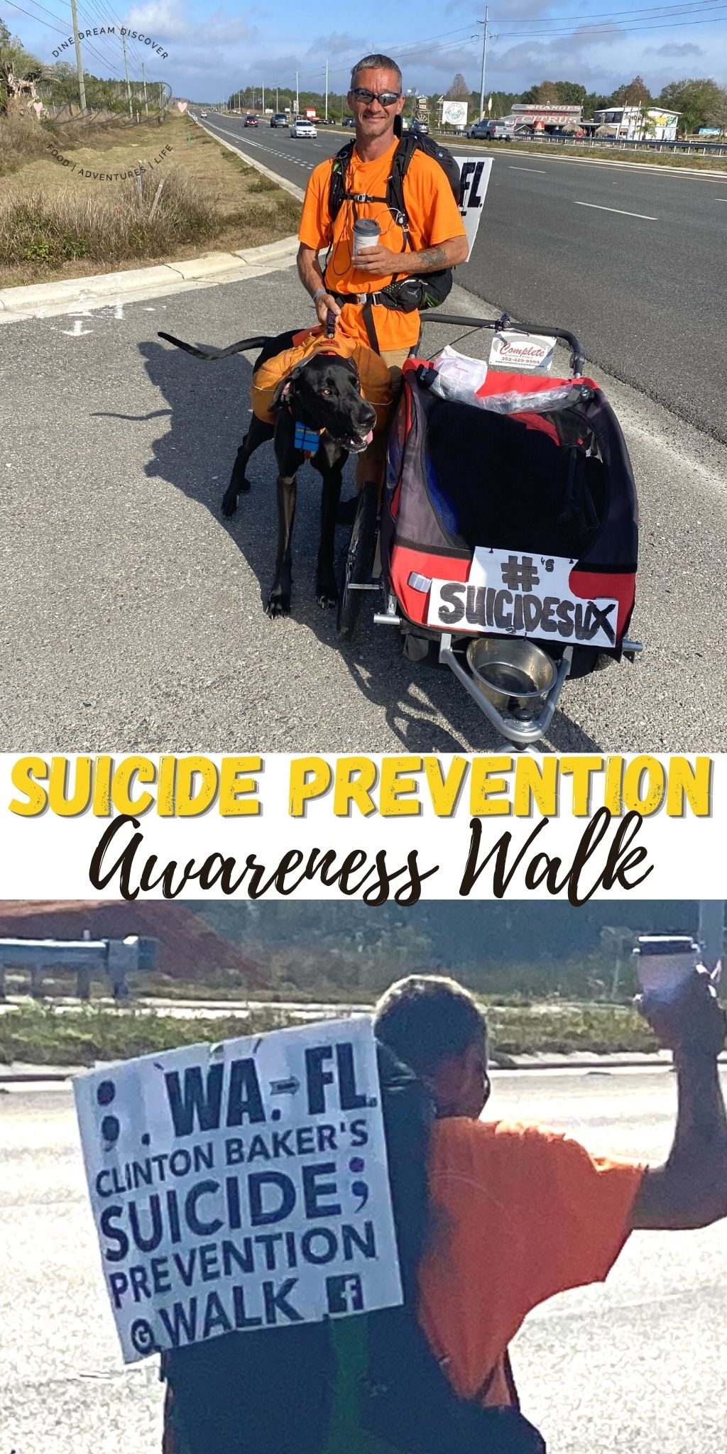 Suicide Prevention Awareness Walk FL to WA to FL