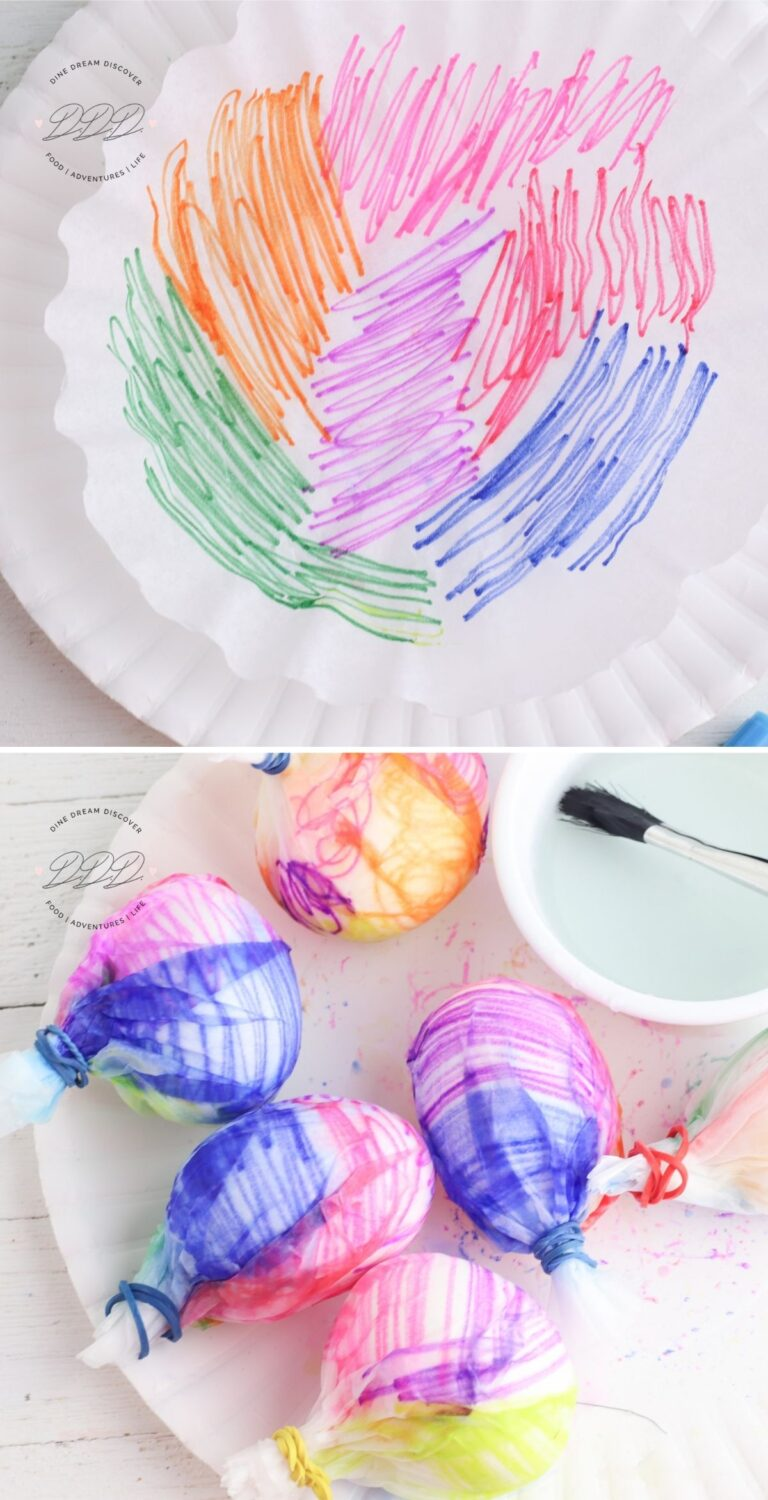 coffee filter eggs