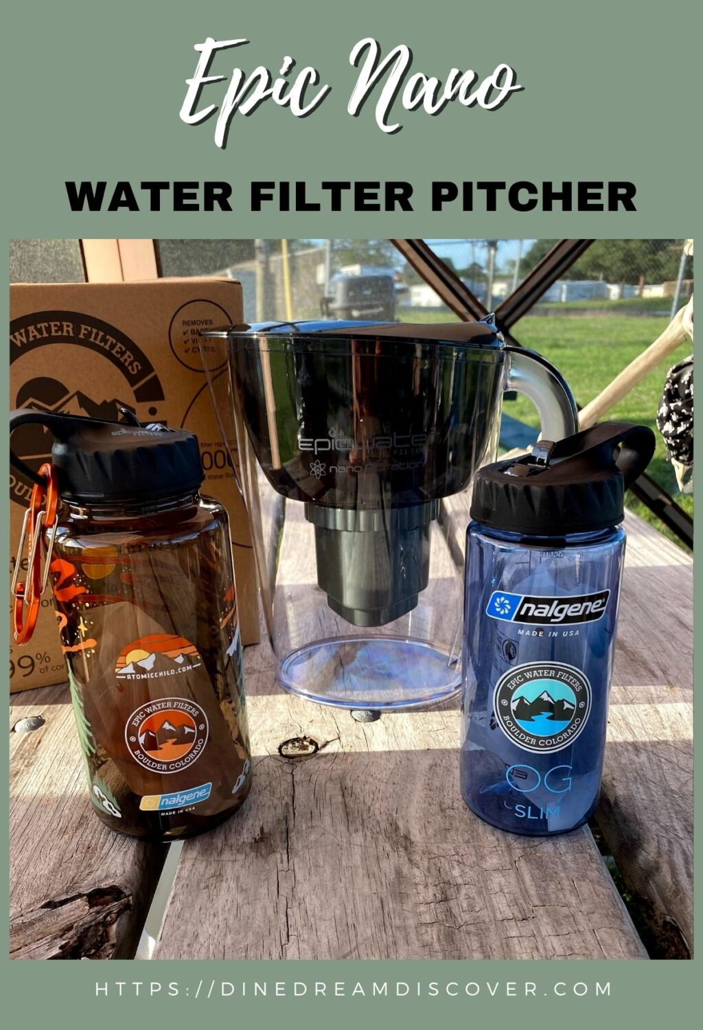 Epic Nano Water Filter Pitcher
