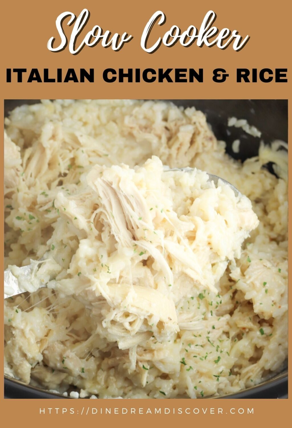 Slow Cooker Italian Chicken and Rice Recipe