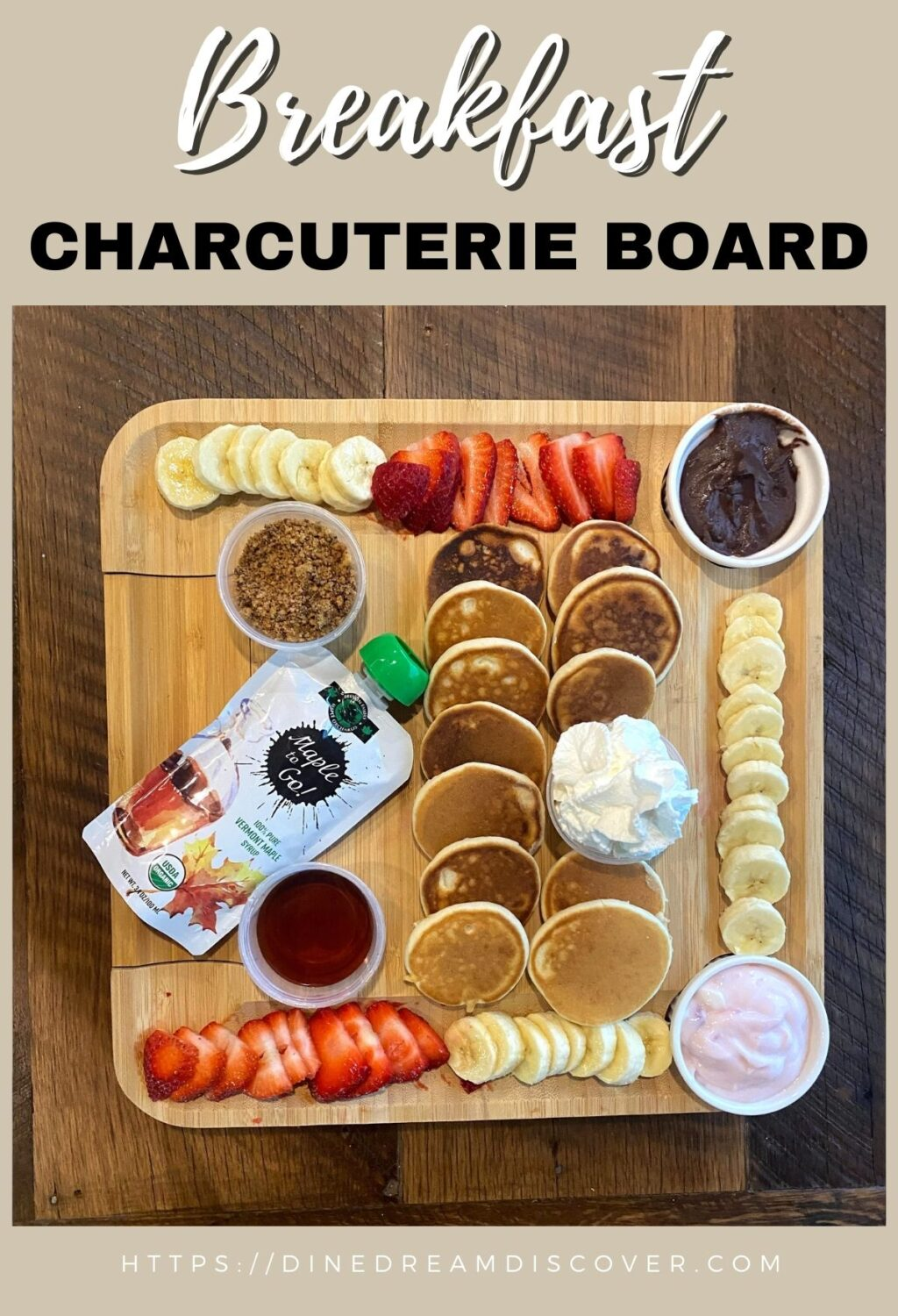 Breakfast Charcuterie Board with Real Maple Syrup