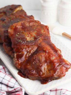 Baked BBQ Pork Steaks