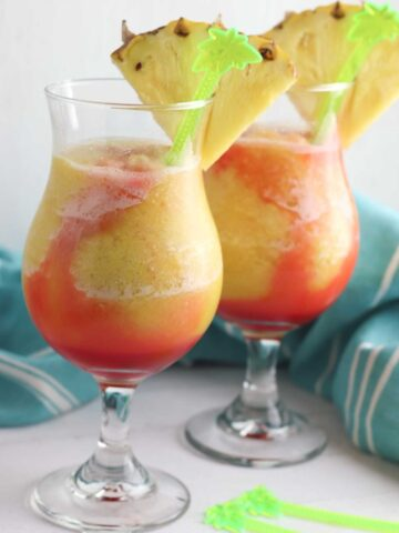Bahama Mama Slush Cocktail and Mocktail