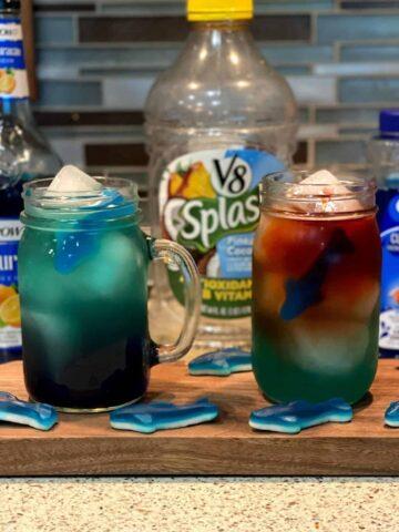 Shark Bite Cocktail and Mocktail
