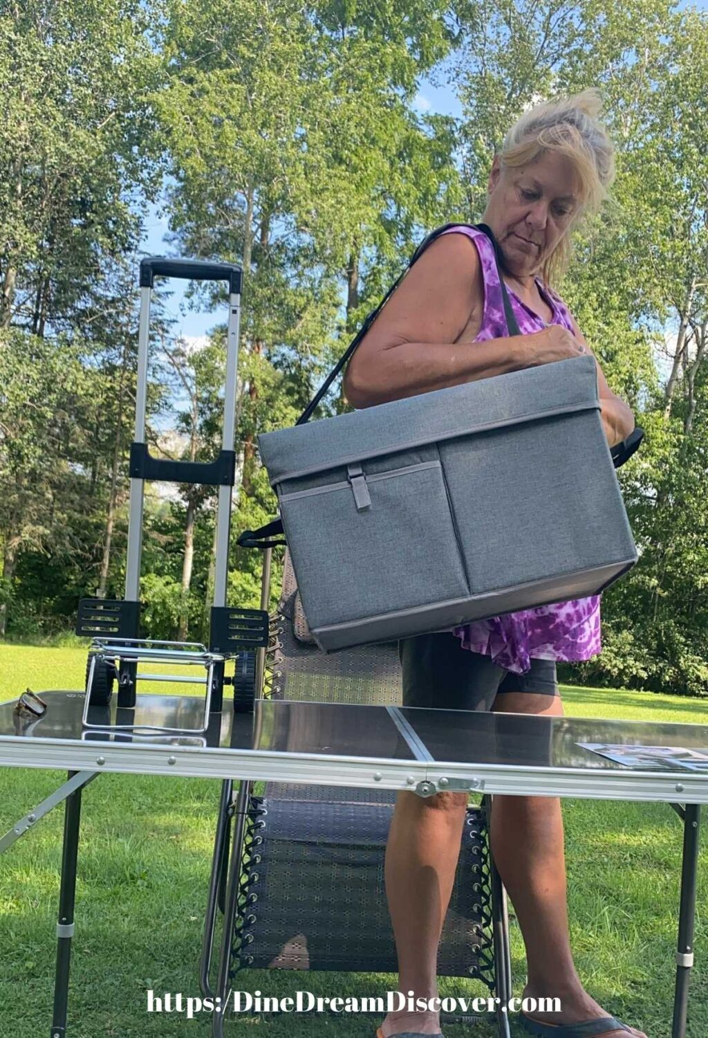 Portable Cooler Ottoman and Trolley