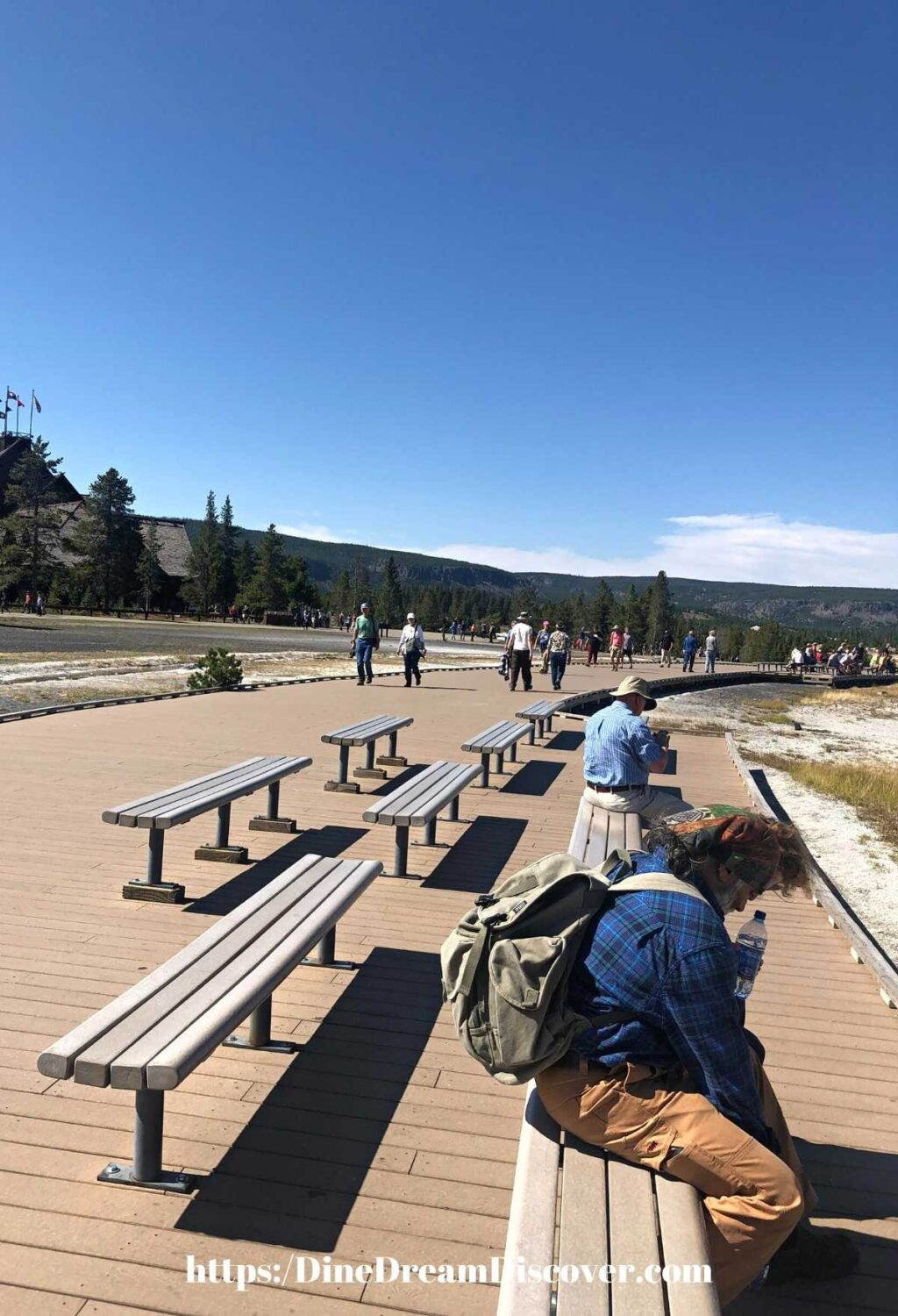 BENCHES FOR OLD FAITHFUL