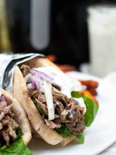Air Fryer Steak Gyros