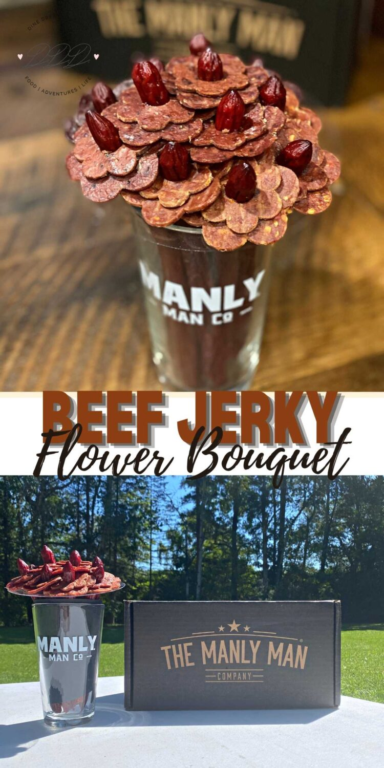 Beef Jerky Flower Bouquet from The Manly Man Co.