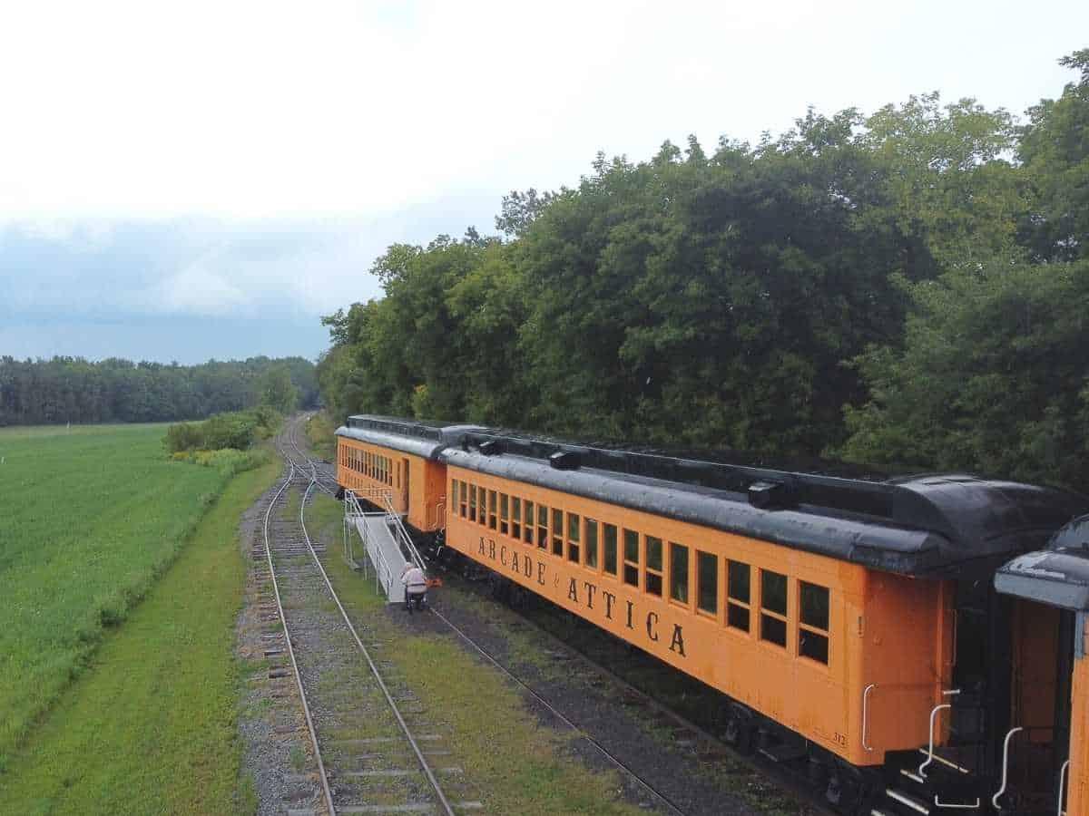 Step back in time aboard the Attica Arcade Railroad Train