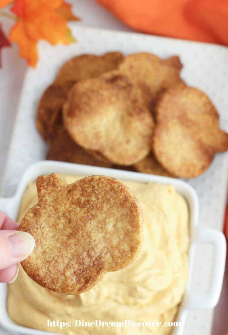 Pumpkin Dip with Pie Crust Chips