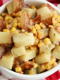 Slow Cooker Potatoes and Corn Side Dish
