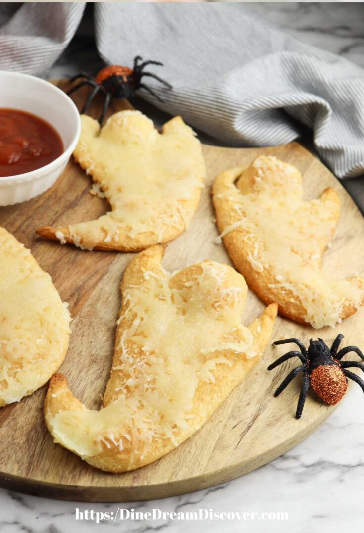 Spooky-Cute Cheesy Ghost Crescent Rolls
